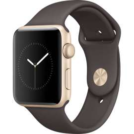 Apple Watch Series 2 42mm Gold Aluminum Case with Sport Band Cocoa MNPN2