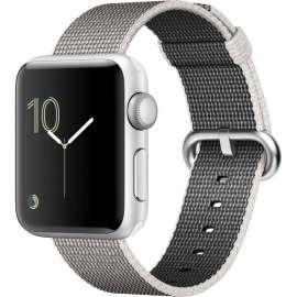 Apple Watch Series 2 38mm with Woven Nylon Pearl MNNX2