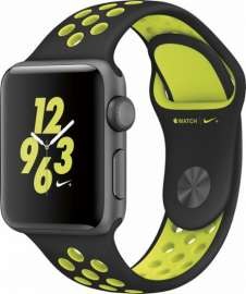 Apple Watch Series 2 38mm Space Gray case with Nike Sport Band Black/Volt MP082
