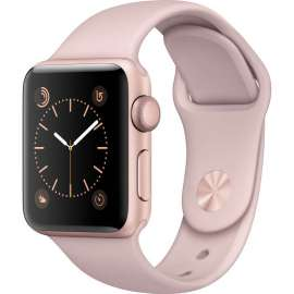 Apple Watch Series 2 38mm Rose Gold Aluminum Case with Sport Band Pink Sand MNNY2