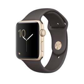 Apple Watch Series 1 Gold Aluminum case 42mm with Cocoa Sport Band MNNN2