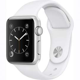 Apple Watch Series 1 Silver Aluminum 38mm with White Sport Band MNNG2