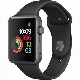 Apple Watch Series 1 Space Gray Aluminum Case 42mm with Black Sport Band MP032