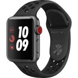 Часы Apple Watch Series 3 Cellular 38mm Space Gray Aluminum Case with Anthracite/Black Nike Sport Band MQL62