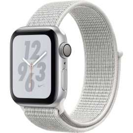 Часы Apple Watch Series 4 GPS 40mm Aluminum Case with Nike Sport Loop серебристый/снежная вершина MU7F2