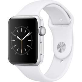 Часы Apple Watch Series 2 42mm Silver Aluminum Case with White Sport Band MNPJ2