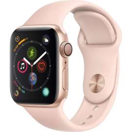 Часы Apple Watch Series 4 GPS 40mm Aluminum Case with Sport Band (золотистый/розовый песок) mu682